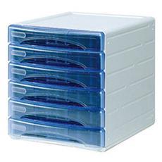 pz. 1 Cassettiera Olivia. Azzurro trasparente TR13G 6P BL
