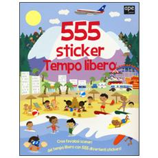 Tempo libero. 555 sticker. Con adesivi