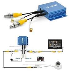 Mini Dvr Portatile 1 Ch Audio Video In Out Registra Scheda Micro Sd Telecamera