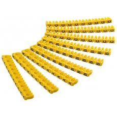 ISWT-MARK2L-CL - Segnacavo Giallo con lettere ''A-C'' per cavi da 2.5mmq