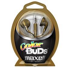 Colour Budz Headphones Gold, Stereofonico, Blu, Porpora, Cablato, 20 - 23000 Hz, ferrite, 3,5 mm