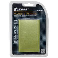 TP-2574E, DC, Verde, Micro-USB, Alluminio, Fotocamera, MP3, MP4, Telefono cellulare, Altro, Smartphone, Micro-USB