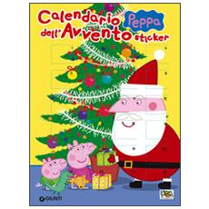 Calendario dell'Avvento Peppa. Con adesivi