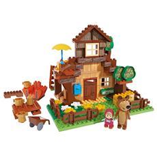 Masha E Orso - Mattoncini - Casa Di Orso 163 Pz Con Masha E Orso