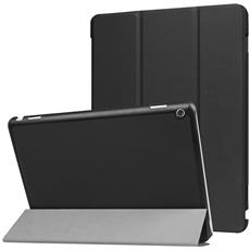 "Custodia Cover Horizontal Flip Leather Case Nero Con Stand Holder Per Huawei Mediapad M3 Lite 10"""""