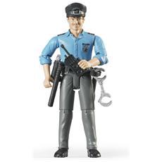 Poliziotto Pelle Chiara con Accessori Scala 1:16