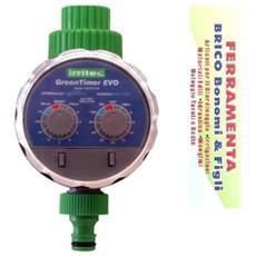 "Programmatore A Batteria Green Timer Evo Att. Rubinetto 3/4"""" Irritec"