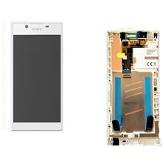 Ricambio Lcd Schermo Display + Touch Screen Unit Digitizer + Frame Bianco Originale Sony Per Xperia L1 + Kit Attrezzi Smontaggio