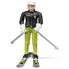 Personaggio Sciatore con Accessori