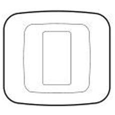 45p21bp - Placca Yes45 Tecnopolimero 1m. Bianco Blanc