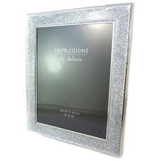 cornici portafoto 'design' fiocchi argentato (20x25 cm) - [ p1075]