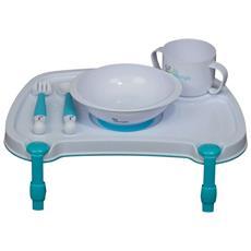 Set Pappa Per Bambini Con Vassoio B-dinner Bianco B550500