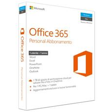Office 365 Personal 1 Licenza per un Anno 1 PC / Mac + 1 Tablet (Senza Disco)