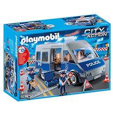 Playset Furgone Polizia con Posto Blocco