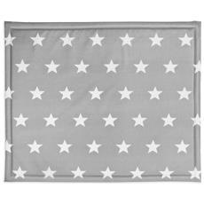 Materassino Per Box 75x95 Cm Little Star Grigio 018-512-65009