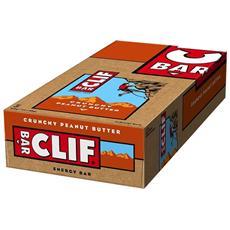 12 X Clif Energy Bar 68 G - Clif Bar - Barrette Energetiche-crunchy Peanut Butter