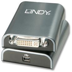 Convertitore USB 2.0 per Monitor DVI e VGA Colore Grigio
