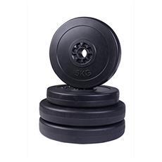 Set di 4 dischi pesi per bilanciere totale 30kg - 2x5kg e 2x10kg
