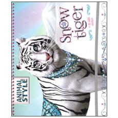 Snow Tiger. Animal style