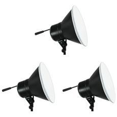 Kit Daylight 750/750/750w Con Riflettori + Stativi 2.5m E Stativo Boom