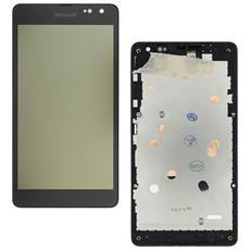 Ricambio Lcd Schermo Display + Touch Screen Unit Digitizer + Frame Nero Originale Nokia Per Lumia 535 + Kit Attrezzi Smontaggio