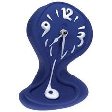 Orologio da tavolo ''Strizzo'' in resina decorata a mano Meccanismo al quarzo tedesco UTS Dimensione cm 13x20x10 Colore blu