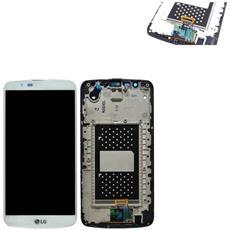 Ricambio Lcd Display + Touch Screen Unit Bianco Originale Per Lg K10 K430 + Kit