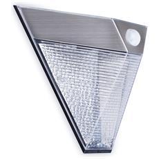 Applique Da Parete Solare Con Sensore Pir A Piramide Argento 5000.703