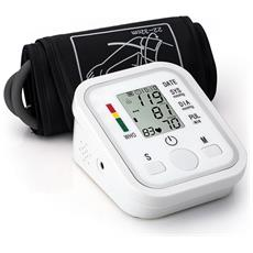 Misuratore Pressione Da Braccio Automatica Sanguinea Con Funzione Vocale Sfigmomanometro Elettronica Digitale Lcd Display