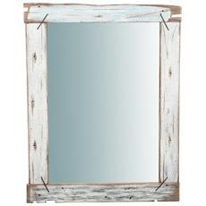 Specchio Da Parete In Legno Massello L90xpr3,5xh120 Cm