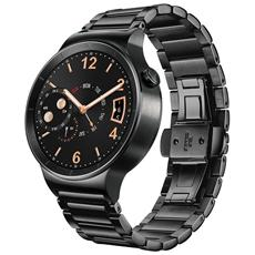 "Smartwatch Watch Active Display Touchscreen 1.4"" AMOLED 4GB 42mm Bluetooth Cinturino in Acciaio Nero per Android / iOS"