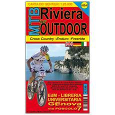 MTB-6 riviera dell'outdoor. Carte dei sentieri di Liguria per mountain bike MTB VTT