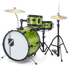 Batteria Per Bambini Millenium Youngster Drum Set Green Cassa 16 Pollici