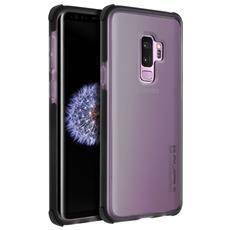 Cover Galaxy S9 Plus Bumper Traslucido Antishock Anticaduta 3.7m - Nero