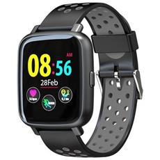 Smartwatch Sn12 Water Resist Ip68 Activity Tracker Fitness Cardio Pedometro Calorie Notifiche Nero / grigio