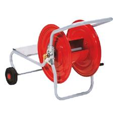 Avvolgitubo manuale in acciaio da giardino per 150 mt tubo con ruote