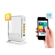 Modem Router WLM-3600 X3 N300 Mbps 4 Porte Fast Ethernet / 1 Porta USB 2.0 e Server DLNA Compatibile con Applicazione MyWiFi