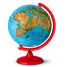 globo geografico illuminato zoo globe ø 26cm novarico