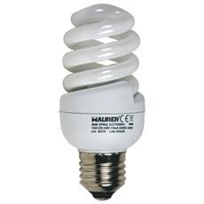 Lampadina fluorescente Maurer luce calda 2700K E27 W15 V230 5Pz