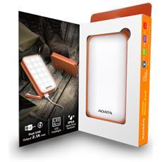 Batteria Portatile D8000L Ioni di Litio 8000mAh Colore Bianco / Arancione