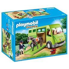 Playset Furgone Trasporto Cavalli