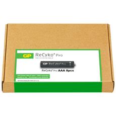 IC-GP201185 - Confezione risparmio 8 Batterie Ricaricabili AAA Mini Stilo 800mAh GP ReCyko Pro
