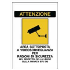 cartello adesivo 20x30cm 'area sottoposta a videosorveglianza'