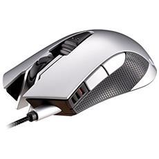 Mouse Gaming USB 530M Ottico 6 Tasti 5000 DPI Retroilluminato Color Argento