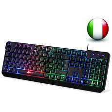 Chroma Tastiera Italiana Per Gaming Usb - Alte Performance – Colori Da Videogioco E Retroilluminata – Tastiera Da Gioco – Tastiera Per Videogame