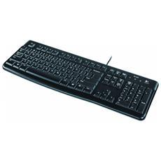 LOGITECH - Tastiera USB K120 Colore Nero (Layout Italiano)