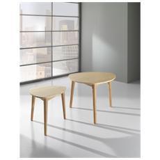 Set 2 Tavolini Realizzati Completamente In Bambù Mod. kall 1564