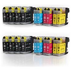 Cartucce Compatibili LC123BK Ink Jet Kit Cartone 100 pezzi / Nero XL x stampanti Brother J4510 (600PAG)