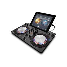 Software controller DJ compatto multi-color, Nero