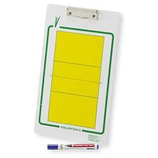 Lavagna Volley scrivibile con pennarello Misura 40x23 cm